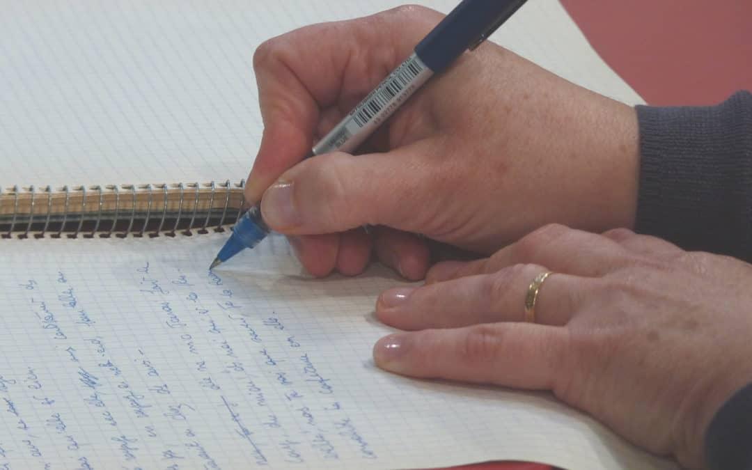 Atelier d'écriture du «Je dis…»