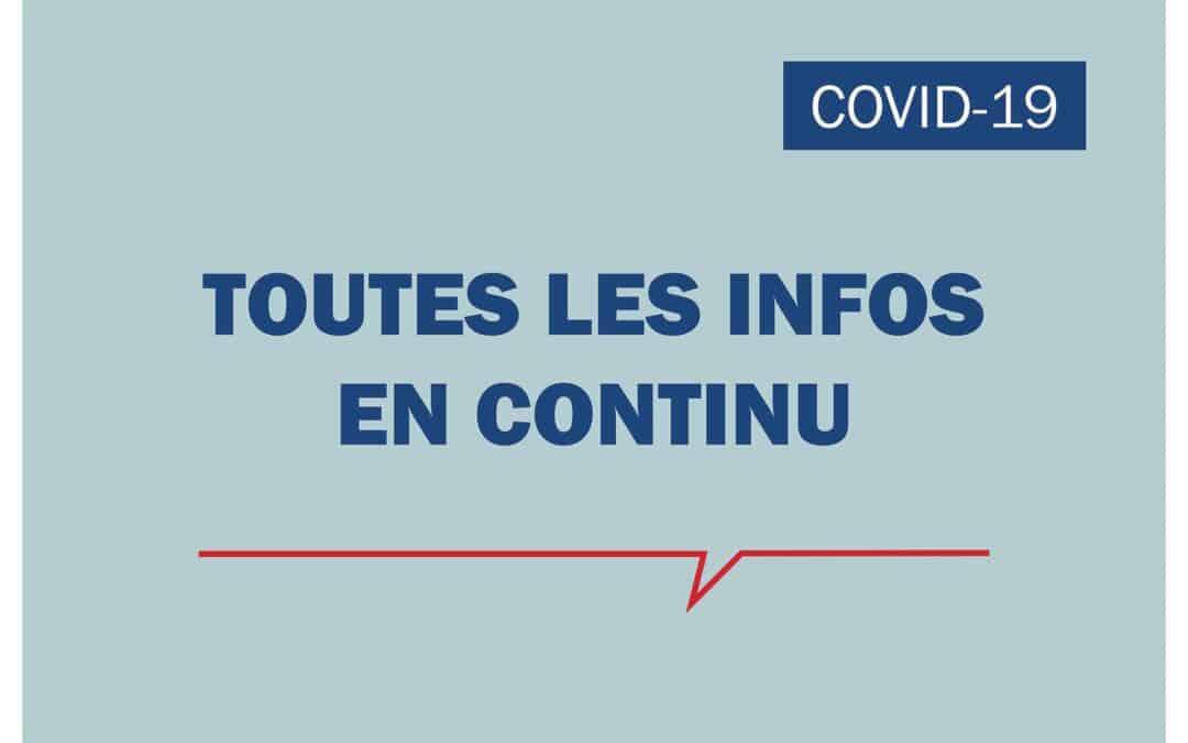 COVID-19 – TOUTES LES INFOS EN CONTINU