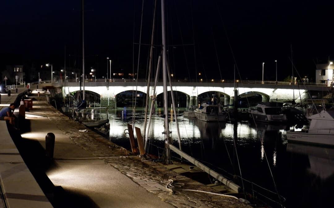 Le pont éclairé