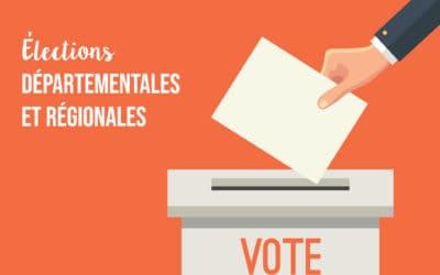 Élections départementales et régionales des 13 et 20 juin