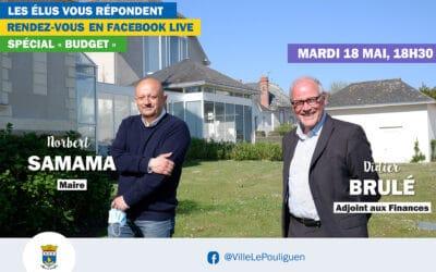 Les élus du Pouliguen vous répondent en direct sur Facebook