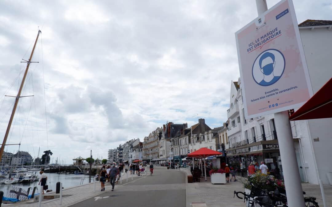 Masque obligatoire au Pouliguen, sauf sur les plages et les sentiers côtiers