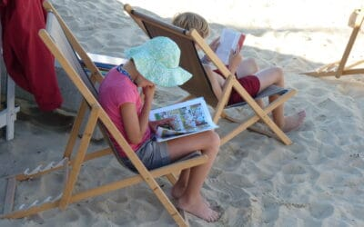 L'espace lecture sur la plage, dorénavant porté par la Ville