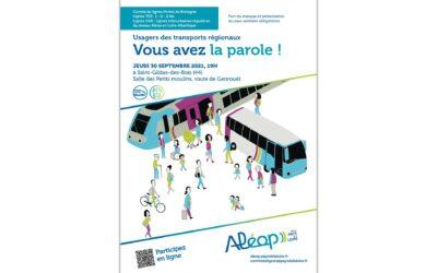 Usagers des transports régionaux : vous avez la parole!